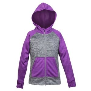 Head Youth Girls Hoodie Full Zip Purple/Charcoal